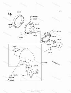 Kawasaki Motorcycle 1999 Oem Parts Diagram For Headlight S