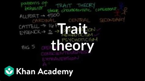 trait theory behavior mcat khan academy youtube