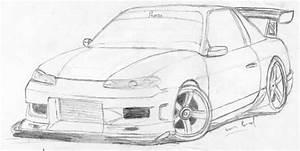 Nissan 240sx Drawing