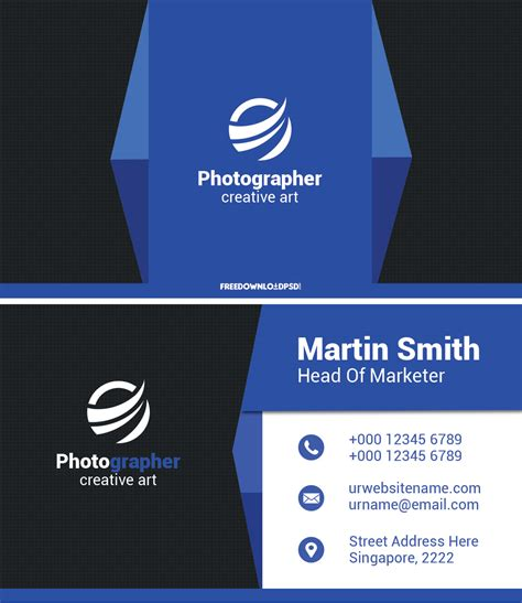 modern business card freedownloadpsdcom