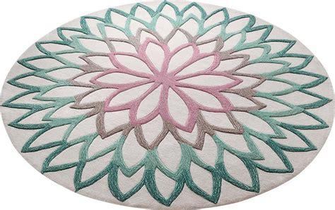 esprit teppich rund teppich 187 lotus flower 171 esprit rund h 246 he 12 mm otto