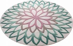 Teppiche Rund 200 : teppich rund esprit lotus flower handgetuftet online kaufen otto ~ Markanthonyermac.com Haus und Dekorationen