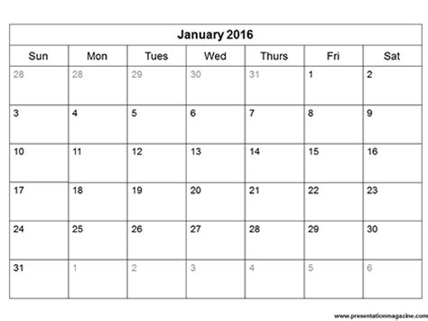 printable calendar template sunday start