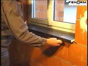 Fensterbank Einbauen Mörtel : montagevideo fenorm innenfensterbank mit 2 komponenten montageschaum youtube ~ Yasmunasinghe.com Haus und Dekorationen