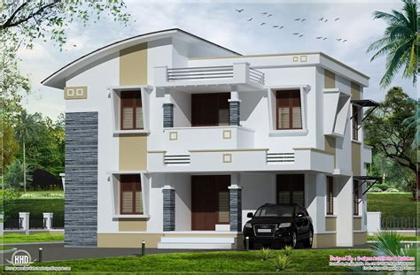 narrow house plans with garage simple flat roof home design kerala architecture