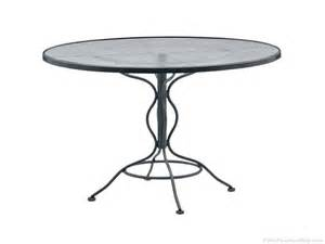 decor glass patio table and woodard wrought iron 48