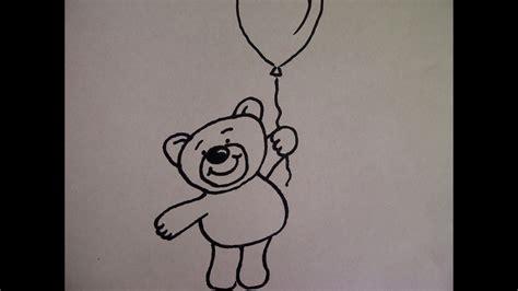 teddybaer mit luftballon zeichnen zeichnen basteln zum