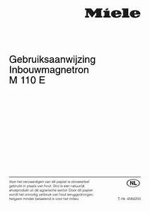 Miele M 110e Microwave Oven Download Manual For Free Now