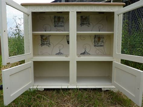 Country Style Display Cabinet . Bookcase Painted Vintage