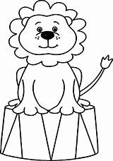 Circus Coloring Pages Animals Lion Animal Clown Sheets Drawing Ringmaster Tent Printable Bubble Guppies Preschool Bear Cartoon Books Adult Adults sketch template