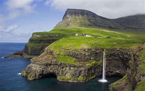 Gásadalur   The village Gásadalur on Vágar, Faroe Islands