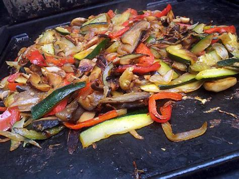 recette de cuisine a la plancha recette de ratatouille à la plancha de pipa