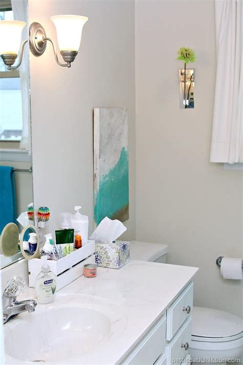 Decorating  Small Bathroom  Navy  Turquoise