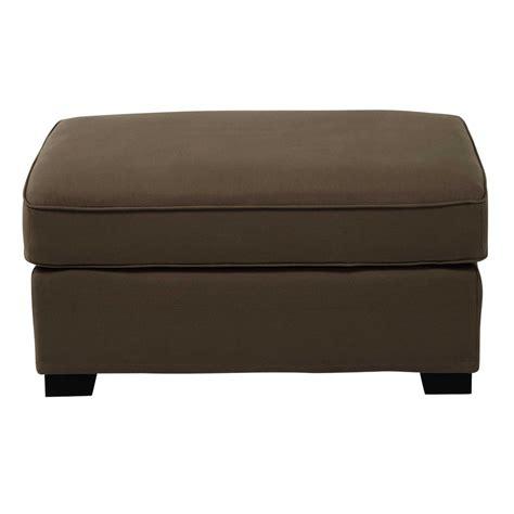 pouf canapé pouf de canapé modulable en coton taupe maisons