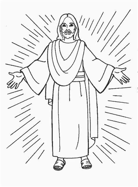 imagenes  dibujos de jesus  pintar  colorear