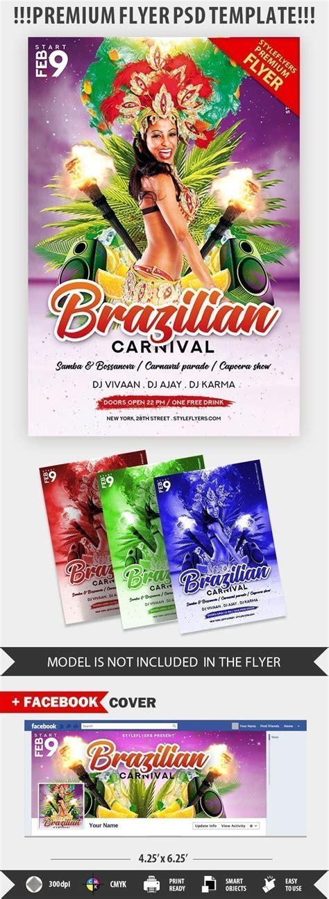 brazilian carnival flyer template brazilian carnival psd flyer template 22514 styleflyers