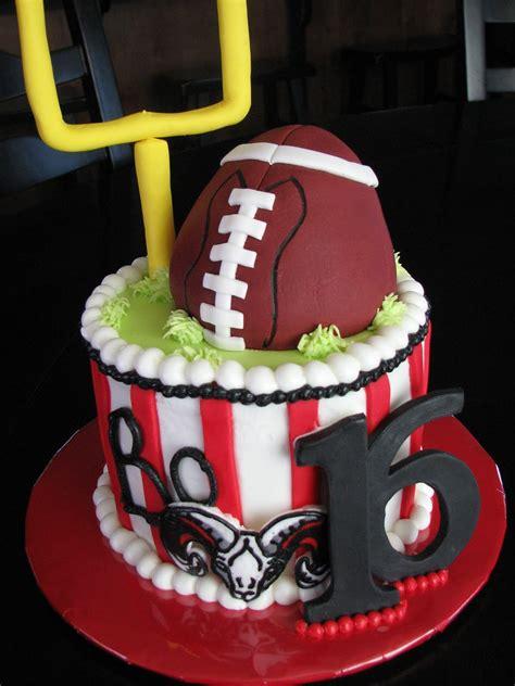 decadent designs highland rams football birthday cake