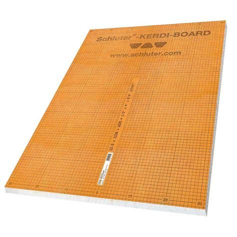 schlüter kerdi board schluter kerdi board 1 2 in x 48 in x 96 in building panel kb1212202440 the home depot