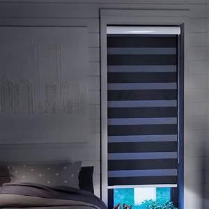 Store Enrouleur Jour Nuit : store enrouleur jour nuit noir occultant moderne ~ Edinachiropracticcenter.com Idées de Décoration