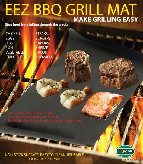 grille tv free bbq grill mat as seen on tv make grilling easy 2 mats