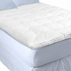 Feather and down bed mattress cover topper queen bed for Down feather bed cover
