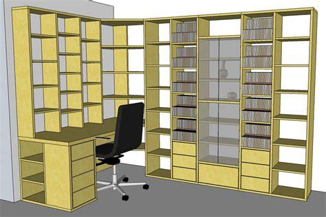 meuble bureau bibliotheque fabrication bibliothèque et bureau d 39 angle sur mesure en bois