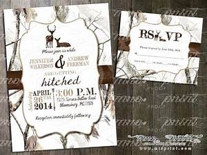 white camo deer wedding invitation and rsvp card by With blue camo wedding invitations