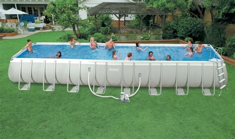 Timeproof Rectangular Frame Swimming Pool,above Ground