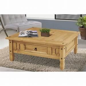 Table En Pin Massif : table basse en pin massif maison design ~ Teatrodelosmanantiales.com Idées de Décoration