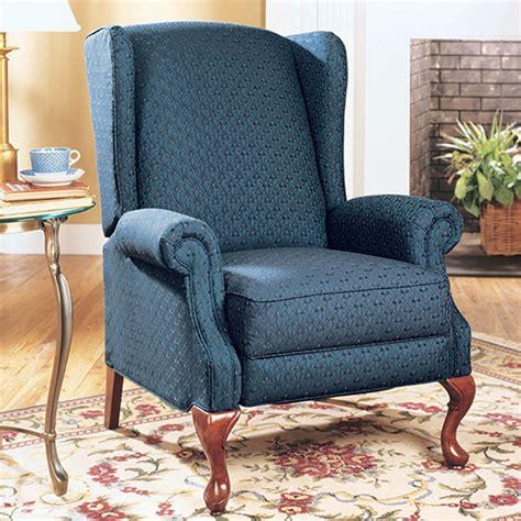 high back wingback chair high leg recliner