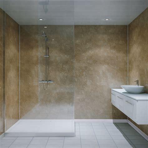 multipanel classic travertine unlipped bathroom wall panel