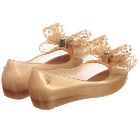 mini melissa girls gold jelly shoes childrensalon