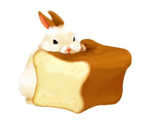 Illustration Art Food Kawaii Pixiv Bread Bunny Rabbit
