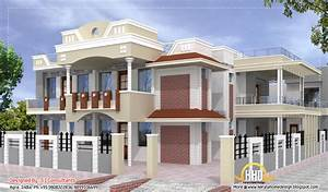 Indian home design with plan