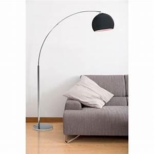Lampadaire Industriel Pas Cher : desi lampadaire arc noir hauteur 166cm achat vente ~ Dailycaller-alerts.com Idées de Décoration