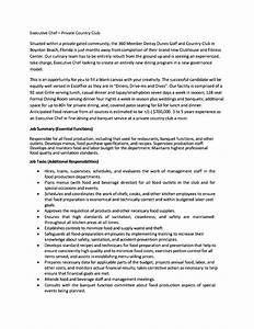 executive chef resume cover letter free samples With executive resume cover letter