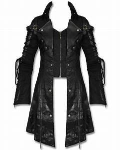 Punk Rave Poison Black Jacket Mens Faux Leather Goth ...
