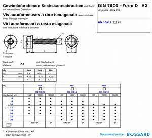 M10 Schraube Durchmesser : gewindefurchende schrauben mit sechskantkopf edelstahl a2 din 7500d sechskantkopf mit flansch ~ Watch28wear.com Haus und Dekorationen