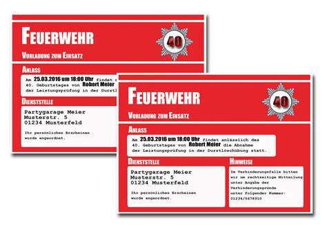 einladungskarten party feuerwehr einladung