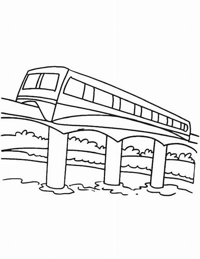 Monorail Coloring Printable Pages