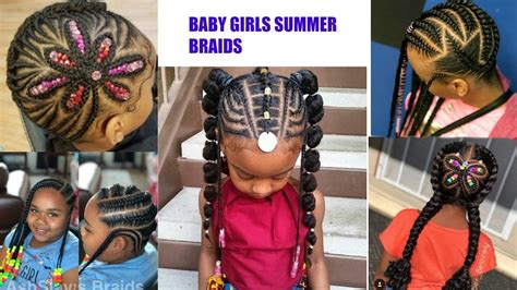 Baby Girls Braided Hairstyles For Summer