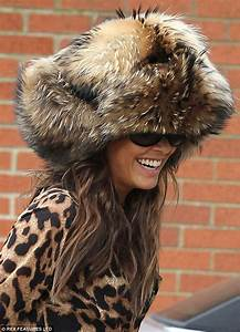 Myleene Klass steps out in a ridiculously large fur hat ...
