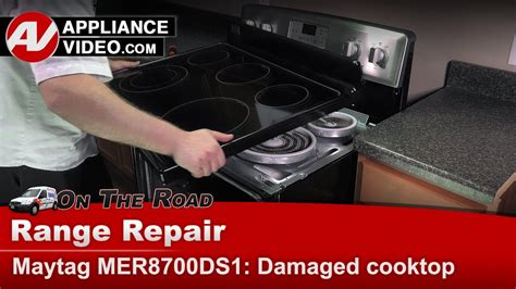 maytag whirlpool kenmore cooktop   replace top ceran assembly youtube