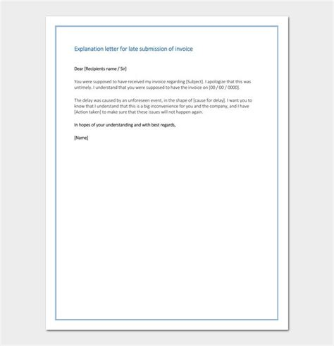 apology letter   late  submission sample letter
