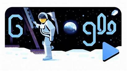 Google Moon Anniversary Landing 50th Doodles