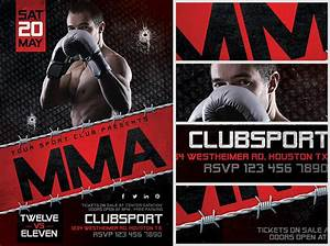 mma flyer template 2 flyerheroes With ufc poster template