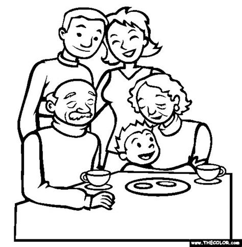 Families Kleurplaat by Get This Free Simple Family Coloring Pages For Children