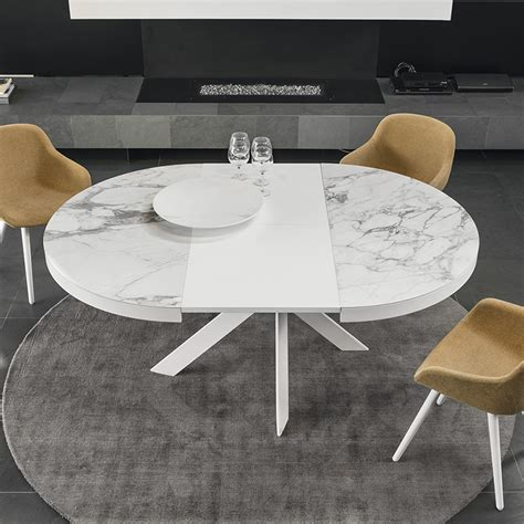 ceramic top dining table calligaris tivoli round extending dining table ceramic top
