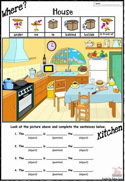 Prepositions Preposition Worksheet Worksheets Place Grade English