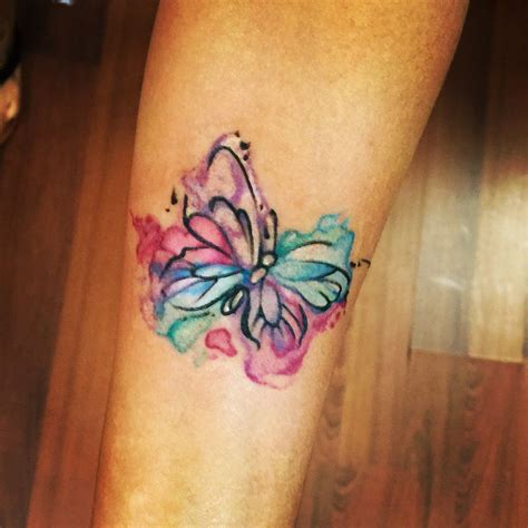 watercolor butterfly tattoo cute  simple